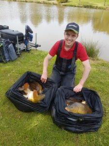 Elliot Faye uses  our Crush, Elliot used it down the margins to put this lovely net of carp together!
