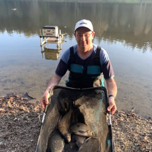 Alan Parsons from Wiltshire and a good net of large Shearwater bream!