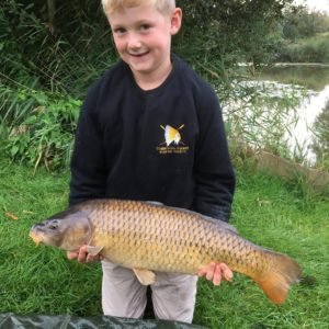 Young William Stephens with a cracking common caught using our Kriller RTGs, well done William!