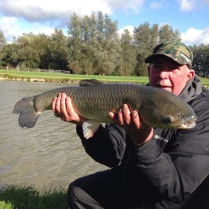 Ollie Cox from near Brighton, used our Gofters to catch this stunning grass carp!