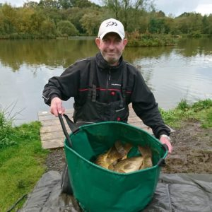 Paul Tidball with part of a huge weight at Stafford, Paul loves our red Gonuts in 11mms!