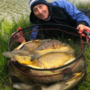 Dave wykes landed this stunning net of fish from Clawford Vineyards JRs lake on GRP!