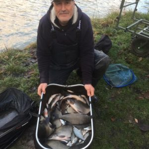 Roy Coleman on his lakes near Peterborough,awesome silver fishing!