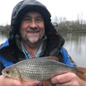 Mad Mike with a very large roach from Goodiford!