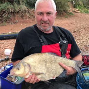 Rob Watts with a massive slab from Durleigh, on our RTGs yellows!