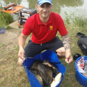 James Sillett with a lovely net of small carp!