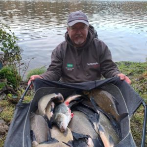 Pete Archer at Shearwater with a cracking  net of slabs!