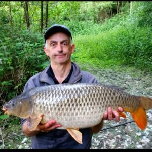 Eddie Taylor Green with a lovely 20lb common caught on the pole on our GRP paste!