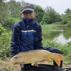 Jacob Dorey holding a lovely 12lb Ghoustie just brilliant Jacob!