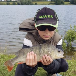 Keaton at Durleigh with a fantastic stripey!