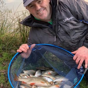Gary Dennis with lovely silvers from Bake
