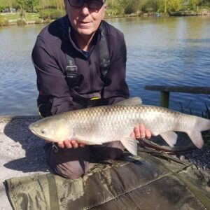 Dave Wykes with a lovely Grassie!