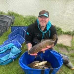 Mark Wilson with part of a winning bag at How End on a yellow Gofter on the method with RTGs